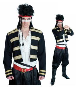 Mens Adam Ant Fancy Dress Costume 80s Pop Star Prince - FAST + FREE POST