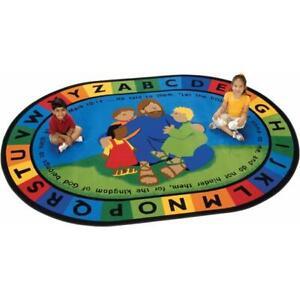 Carpets for Kids 72006 Jesus Loves the Little Children Rug 6 ft. 9 in. x 9 ft...