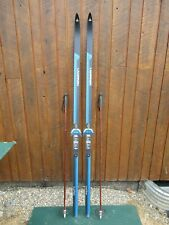 """GREAT Ready to Use Cross Country 77"""" Long LAMPINEN 200 cm Skis + Poles"""