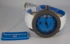NEW TechnoMarine Titanium Reef Abyss Automatic Blue Liquid Filled Watch TM516005