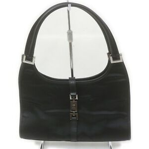 Gucci Hand Bag Jackie Black Nylon 1518196