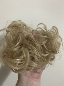 Curly Real as human Messy Bun Hair Piece Scrunchie Updo Natural Hair Extensions
