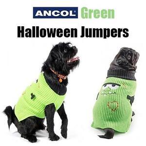 Ancol Halloween Dog Jumper Monster Fancy Dress Costume Outfit Warm Green XXS XS
