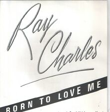"RAY CHARLES 7""PS Spain 1982 Born to love me PROMO"
