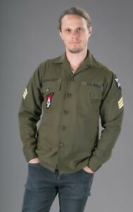 John Lennon Army Shirt / Beatles Shirt. Replica with Badges. S - 4XL