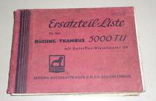 Catálogo de Piezas / Lista Repuestos Büssing Trambus 5000 Tu con Motor Diesel U9