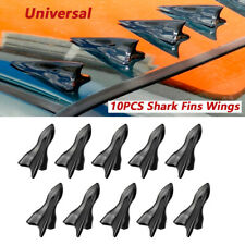 10PCS Vortex Generator Diffuser Shark Fin Wing Spoiler Roof Windshield Trim Kits