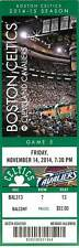 Ticket Basketball Boston Celtics 2014 11/14 Cleveland Cavaliers Lebron James