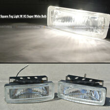 For H3 H1 5 x 1.75 Square Clear Driving Fog Light Lamp Kit W/ Switch & Harness