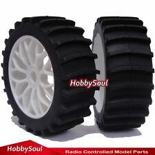 RC 1:8 Baja Buggy Wheels & Snow / Sand  Paddle Tires Set (2 pcs) for HPI