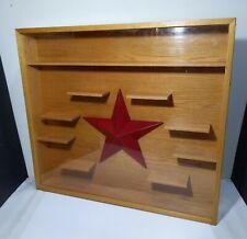 Vintage Handmade Oak Wood Wall Display Showcase Shelf Curio Cabinet West Country