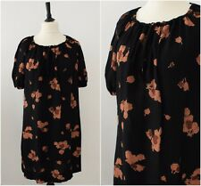 Vintage 1970s Boho Floral Midi Dress Casual Loose Fit Slouchy Day Tea Dress 16
