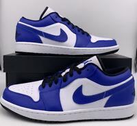 Nike Air Jordan 1 Retro Low Game Royal 553558-124 White Blue Black