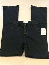 NWT Free People Jeans Dark Wash Boot Cut Button Fly Kaye OB514635 Size 28