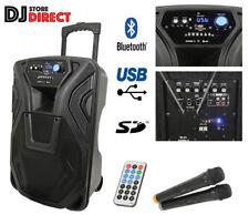 QTX Busker 12 - Portable PA Speaker With WIRELESS MICS, USB SD BLUETOOTH & RADIO
