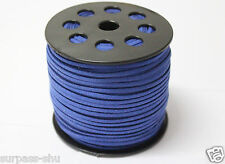 3mm DARK BLUE Faux Suede Cord String Cord,DIY bracelet,necklace 10yards
