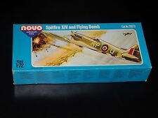 MAQUETTE - SPITFIRE XIV AND FLYING BOMB - NOVO - 1/72  - MODEL KIT - COMPLETE