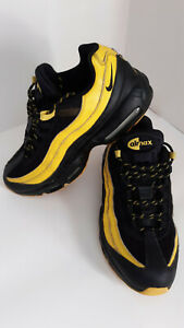 Nike Air Max 95 Frequency Pack Mens Sz 11 Athletic Shoes Black & Yellow