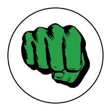 "30 Hulk Fist, Avengers stickers envelope seals 1.5"" round"