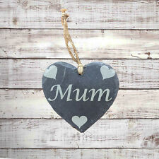 Personalised Laser Engraved Hanging Slate Heart Shape Ideal Christmas Gift