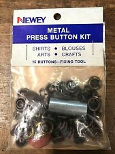 15 x Newey 10mm Bronze Metal Press Stud Kit with tools Snap Button Fastener DIY