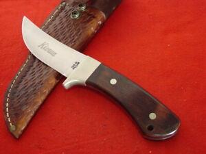 "Case XX USA R703 SSP Stainless KIOWA 9-1/4"" full tang fixed blade knife & sheath"