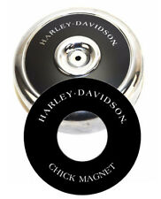 "Harley-Davidson CHICK MAGNET 8"" Round Air Cleaner Filter Cover Insert Decal Evo"