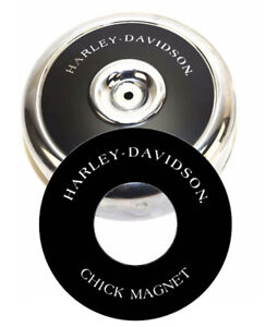 """Harley-Davidson CHICK MAGNET 8"""" Round Air Cleaner Filter Cover Insert Decal Evo"""