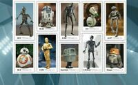 5573-5582 Star Wars Droids Plate Block Of 10 Mint/nh FREE SHIPPING