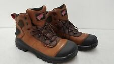 Red Wing Shoes Men's Waterproof Brown Leather Upper Hiking Boot Sz 9