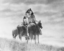 CHEYENNE INDIAN WARRIORS EDWARD S. CURTIS 8x10 SILVER HALIDE PHOTO PRINT