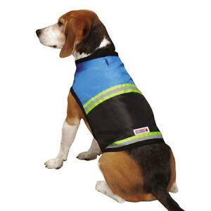 KONG Safety Reflective Dog Vest Jacket BLUE Orange Stripe Traffic Outdoor S SM M