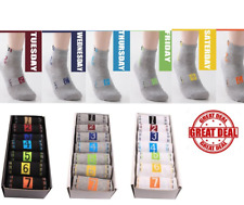 7 Days Of The Week Socks Unisex Painting Cotton Sock Never Lost Your Socks Again