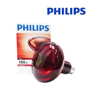 Philips Infrared Lamp 100W R95 E26 E27 Light Heat Bulb Massage Skin Care Bulbs