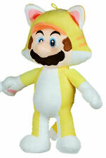 "OFFICIAL SUPER MARIO YELLOW CAT MARIO 14"" SOFT PLUSH TOY TEDDY NEW WITH TAGS"