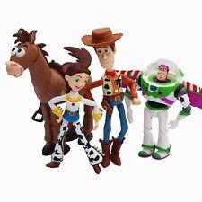Toy Story 4pcs Set Buzz Lightyear Woody Jessie Pvc Action Toys Anime Figure Doll