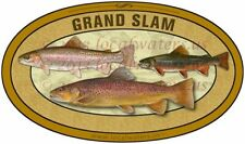 Trout Sticker Grand Slam decal brook brown rainbow trout GUARANTEE 3 years
