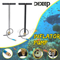 DIDEEP Scuba Diving Oxygen Cylinder Tank Air Hand Operated Inflator Pump