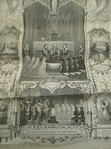 Certificat de communion (religion catholique) ancien 1870-1871