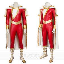 Shazam Costume Superhero Billy Batson Costume Halloween Costume+Shoes Full Set