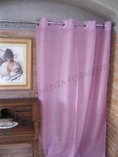 Tenda arredamento casa rosa,  1 telo con anelli cm 140 x altezza  280