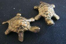 Vintage Miniature Brass Sea Turtle Figurine Collectibles