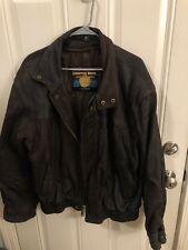 Men's Wilsons Gen Leather Bomber Jacket Med-Large Zipper UP Weathered