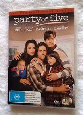 PARTY OF FIVE- SEASON 1 (DVD, 6-DISC SET) R-4, LIKE NEW, FREE POST IN AUSTRALIA