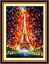 New STAMPED Cross Stitch Kits- painting-PARIS Eiffel Tower-SALE