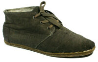 Toms Mens Shoes Size 11.5 Chukka Canvas Brown