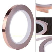20m 10mm EMI Copper Foil Shielding Tape Single Conductive Self Adhesive Barrier