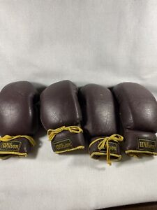 Vintage Wilson Leather Boxing Gloves #H1061- 12oz. Lot Of 4