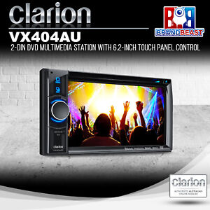 Clarion VX404AU 2-DIN DVD Multimedia Station with 6.2-Inch Touch Panel Control