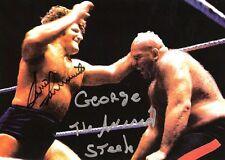 Bruno Sammartino vs George Steele signed 8x10 #2  w/COA